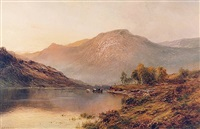 the perthshire hills by alfred de breanski sr