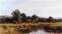 summer on the river rother, nr midhurst, sussex by walter wallor caffyn