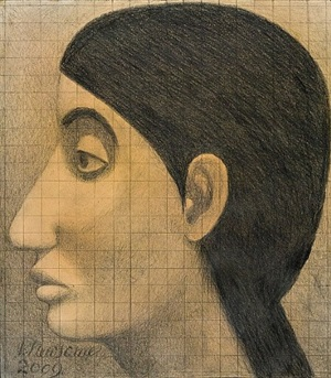 the virgin mary aged 12, left profile by victor newsome