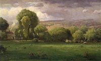approaching storm by george inness