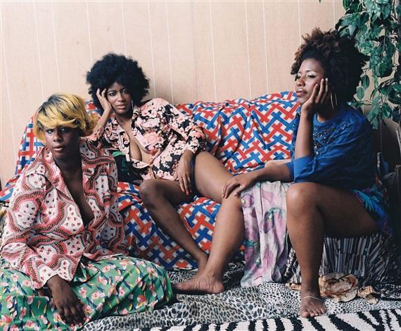 les trois femmes noires by mickalene thomas