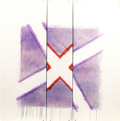 two of a kind iva (red x on lavender) by richard smith