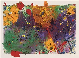 untitled sf90-319 by sam francis