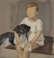 boy with dog by gideon rubin