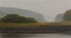 autumn fog by peter bergeron