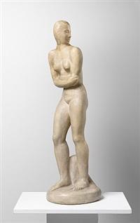 woman looking back by wilhelm lehmbruck