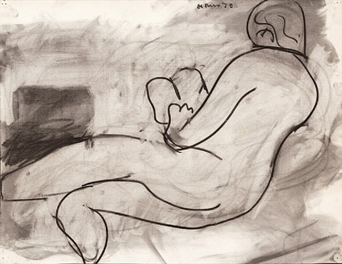 reclining figure reading a book by robert de niro, sr.