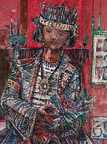 portrait of patti auden thiebaud by wayne thiebaud