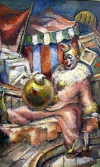 resting clown by philippe alfieri