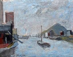 sulla sambre belgio (on the sambre river, belgium) by giuseppe flangini