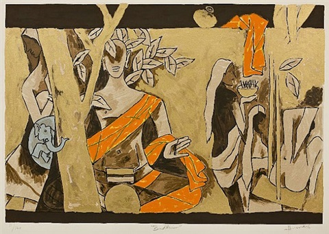 buddhism by maqbool fida husain