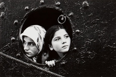 women in porthole by mary ellen mark
