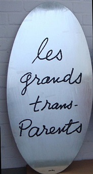 les grands transparents by bertrand lavier