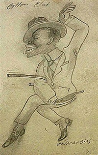 cotton club (dancer) by miguel covarrubias