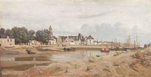 seaport in pays de la loire by jean-baptiste-camille corot