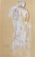 draped figure by auguste rodin