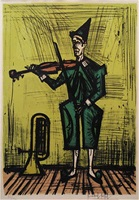 violinist by bernard buffet