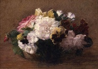 spring flowers in a bowl by victoria dubourg fantin-latour