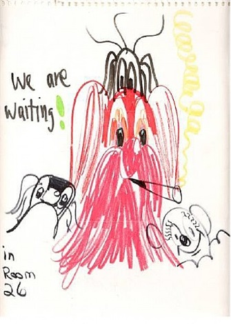 we are waiting! in room 26 by george condo