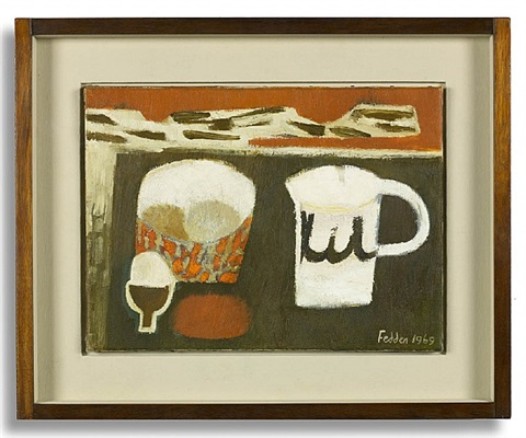eggs and jug by mary fedden