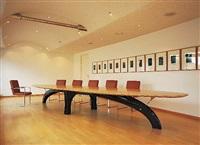 conferenztable brückentisch, chair s10 by gm weber