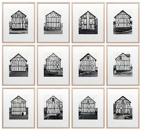 fachwerkhäuser siegener industriegebiet (framework houses, industrial district of siegen) by bernd and hilla becher