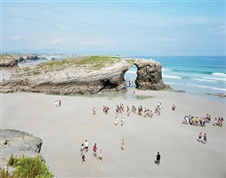 las catedrales arch low tide by massimo vitali