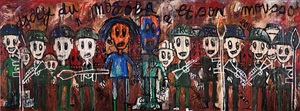 untitled (diptych) by aboudia