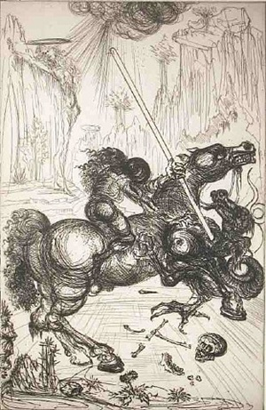 st. george and the dragon by salvador dalí