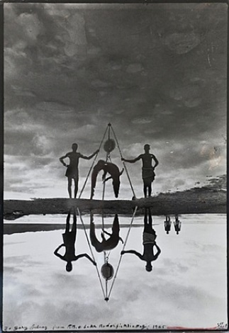 croc weigh (reflections in natural history), lake rudolf (memento photograph) by peter beard