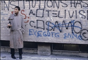 jean-michel basquiat, mulberry and bleecker by bobby grossman