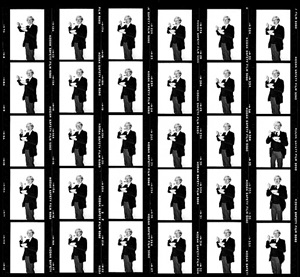 andy warhol, corn flakes contact sheet by bobby grossman