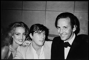 jerry hall, bryan ferry and fred hughes by bobby grossman