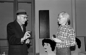 william s. burroughs and andy warhol, the factory by bobby grossman