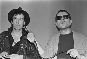 mick jones and glenn o'brien, tv party by bobby grossman