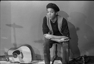 jean-michel basquiat, tv party by bobby grossman