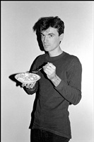 david byrne, corn flakes, long island city loft by bobby grossman
