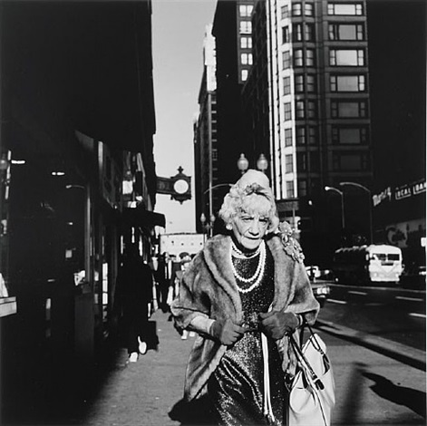untitled (woman with pearls) by vivian maier