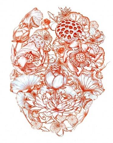 lotus skull by jacky tsai