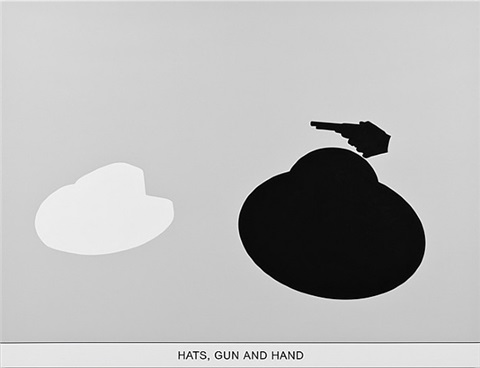 sediment (part two): htas, gun and hand by john baldessari