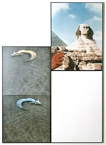 sphinx and cigarette (with two answers) by john baldessari