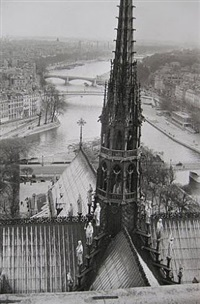 view atop notre dame, paris by henri cartier-bresson