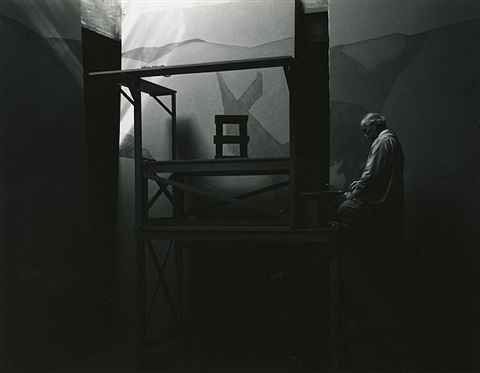gottardo piazzoni in his studio, san francisco, 1932 by ansel adams