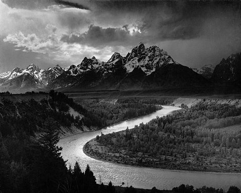 the tetons and the snake river, 1942 by ansel adams