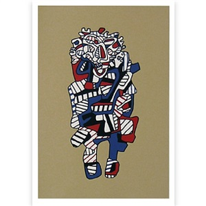celebrator (from presences fugaces series) by jean dubuffet