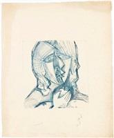 ohne titel (mädchen mit apfel) by hans uhlmann