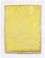 untitled (yellow painting) by lawrence carroll