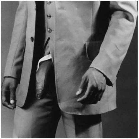 man in polyester suit (zc9) by robert mapplethorpe