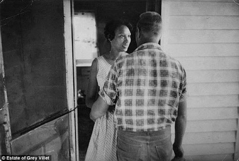 mildred and richard loving, king and queen county, virginia in april 1965 by grey villet