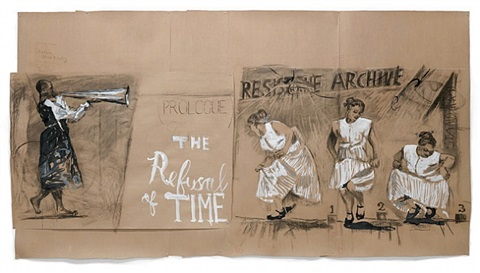 "drawing for ""the refusal of time"" (la negation du temps) prologue by william kentridge"